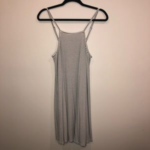 Mossimo Supply Co Striped High Neck Swing Dress
